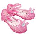 饅頭家族兒童防滑防水蝴蝶結果凍涼鞋